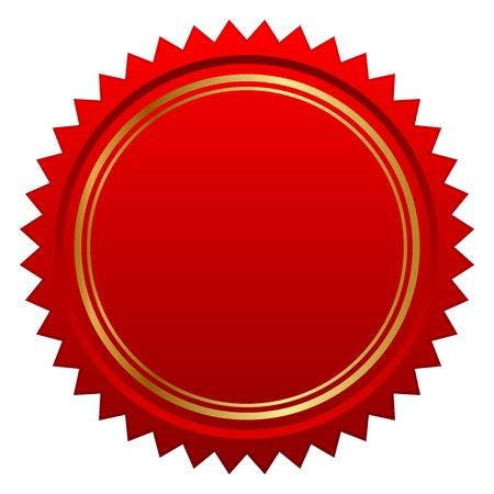 illustratie van rode zegel