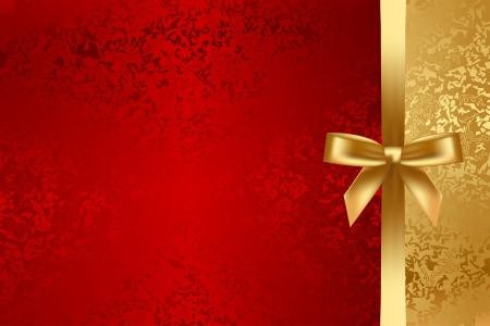 rode en gouden geweven achtergrond met strik