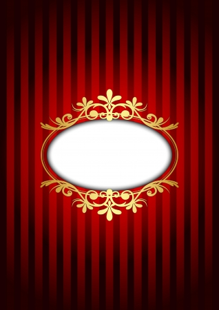 red and gold vintage background Vector