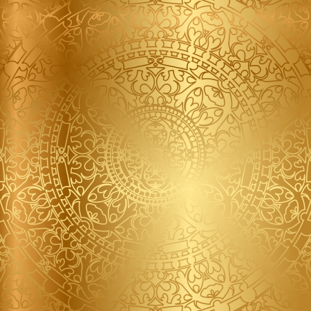 oriental: gold background with oriental decoration