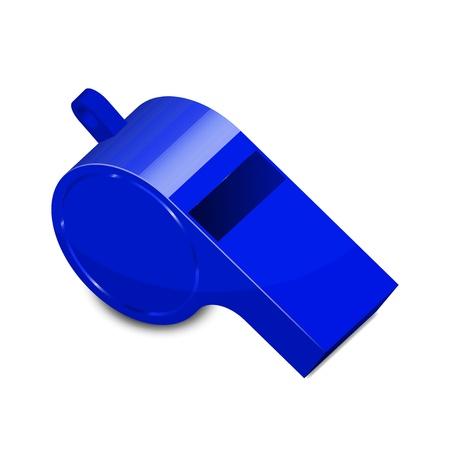 kunststoff rohr: Illustration der blauen Pfeife Illustration