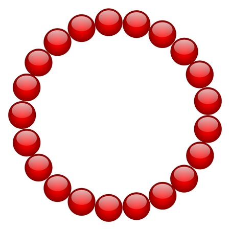 rubin: frame from red beads