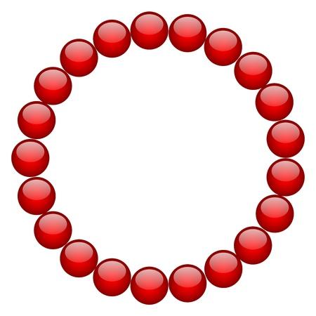 rubin: frame from red beads
