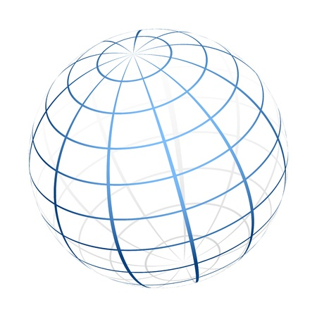 blue sphere:  globe icon