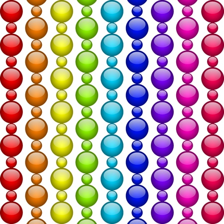 colorful beads Vector