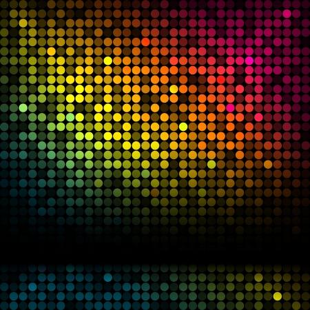 disco achtergrond met kleurrijke lichten Vector Illustratie