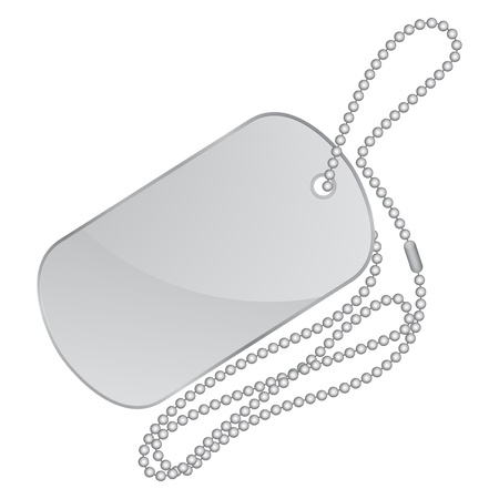 illustration of silver identity tag Vector
