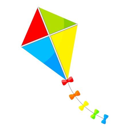 カラフルな凧のイラスト