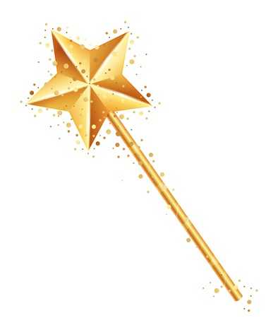 fairy wand: illustration of magic wand Illustration