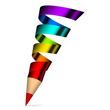 graphics design: Creativity -  illustration of colorful pencil