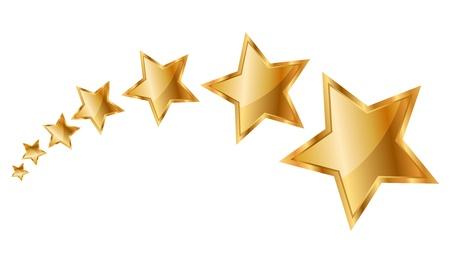 star rating: illustrazione di stelle d'oro