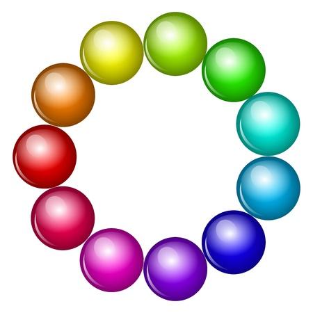 rubin: Vector colorful beads Illustration
