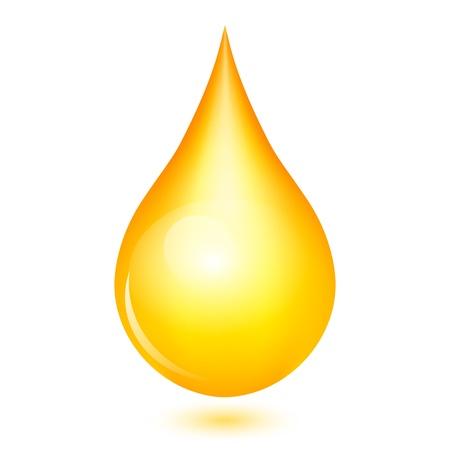 the drop: Vector illustration of yellow shiny drop