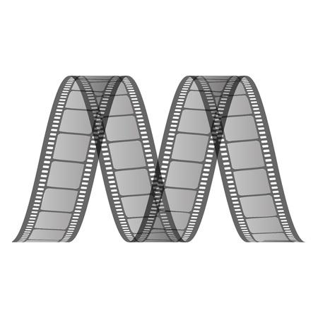 spirale: Vector M Film von Film Illustration