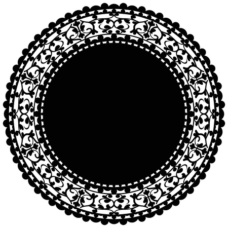 Vector illustration of black doily Vector