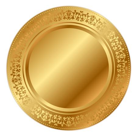 Ilustraci?n vectorial de la bandeja de oro Foto de archivo - 21594309