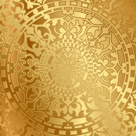 Vector gouden achtergrond met oosterse decoratie