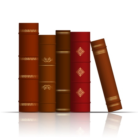 Vector illustration of old books Vector