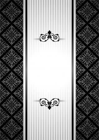 wedding wishes: Vector black and white vintage background