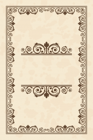 Vector vintage parchment frame Vector