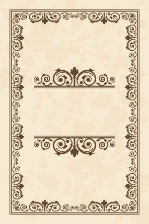 olden: Vector vintage parchment frame