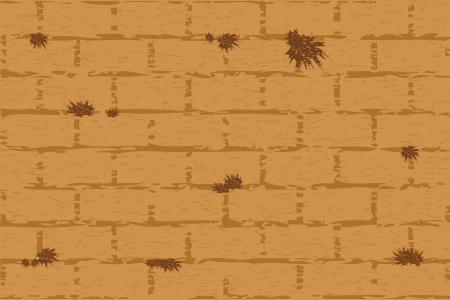 wailing: Vector illustration of wailing wall