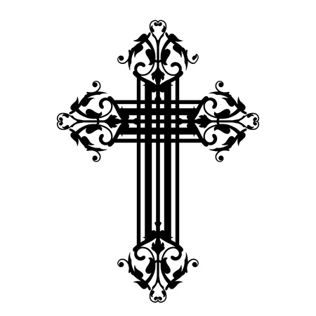 theology: Vector illustration of vintage cross Illustration