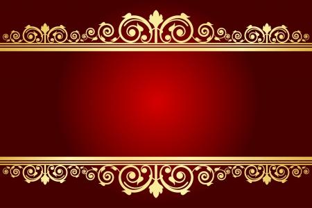 Vector Koninklijke achtergrond met versierd frame Vector Illustratie