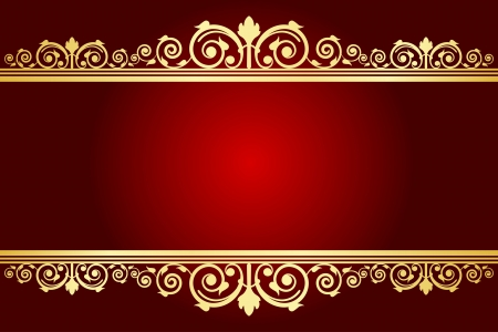 maroon: Vector royal background with decorated frame Illustration