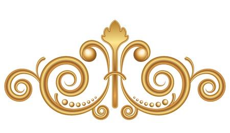 molding: Vector gold vignette