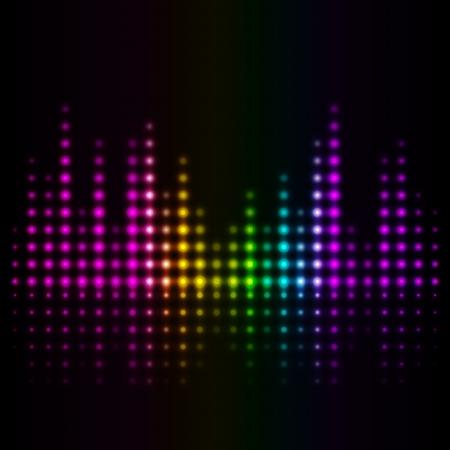 fiestas electronicas: Volumen de m?sica de fondo abstracto del vector Vectores