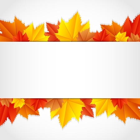 fallen leaves: Vector autumn frame with leaves Illustration