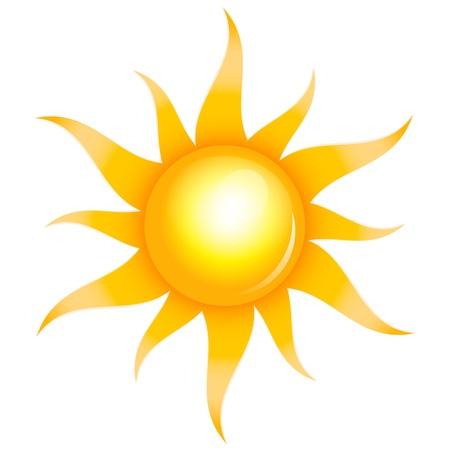 sol radiante: Ilustración vectorial de sol brillante Vectores