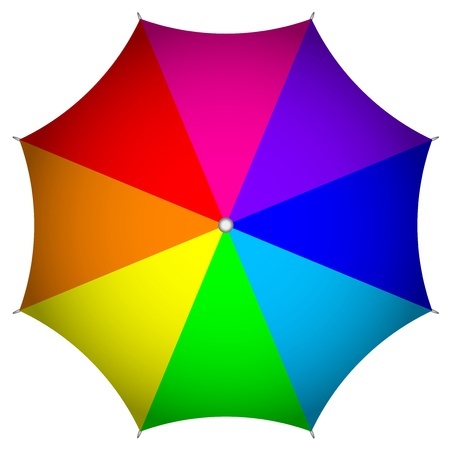 fall protection: Vector illustration of colorful umbrella