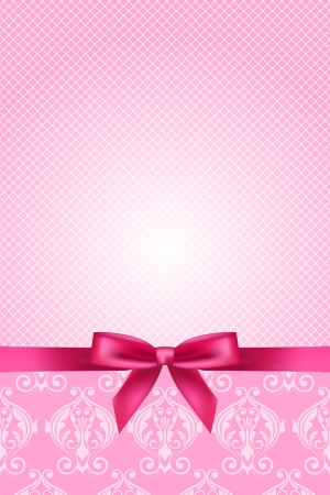 tapet: Vector pink wallpaper with bow