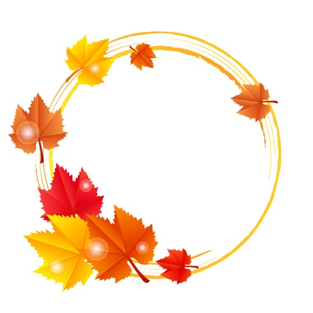 Vector frame with autumn leaves Vector