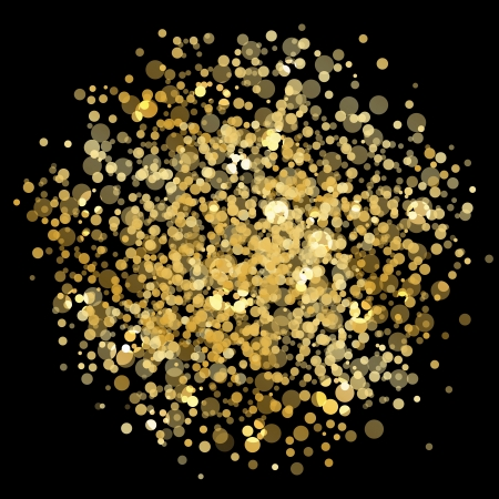 glitter ball: Vector gold blur