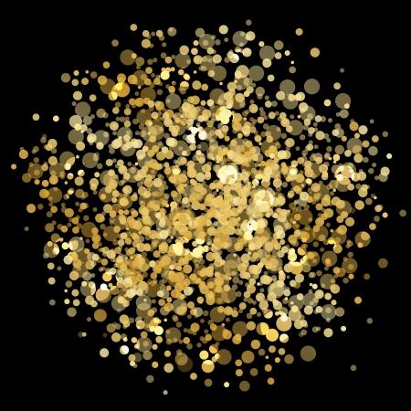 glistening: Vector gold blur