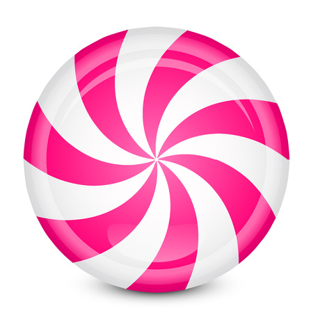 Vector illustration of peppermint candy Banco de Imagens - 22496975