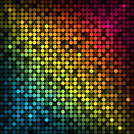 カラフルなディスコの照明とのベクトルの背景  イラスト・ベクター素材