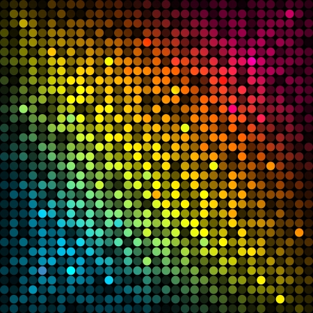 Vector background with colorful disco lights