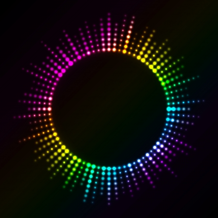 vibrations: Vector colorful lights