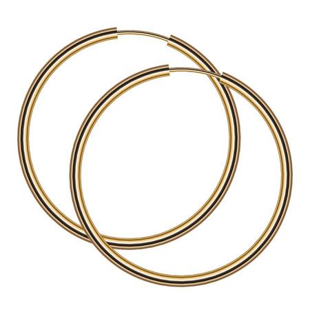 earrings: Vector illustration of gold earrings