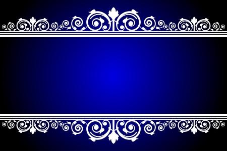 Azul del vector y marco blanco Foto de archivo - 22496982