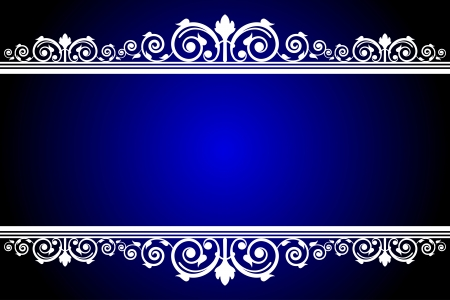 Vector blue and white frame