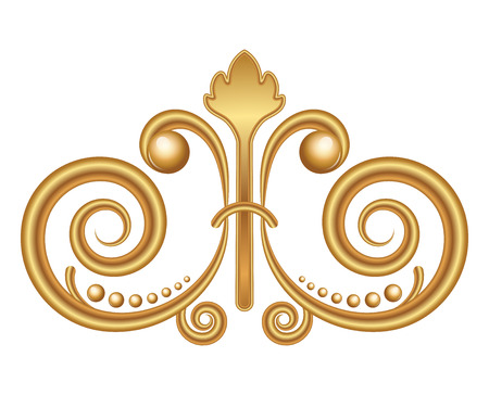 Vector gold ornament Vector