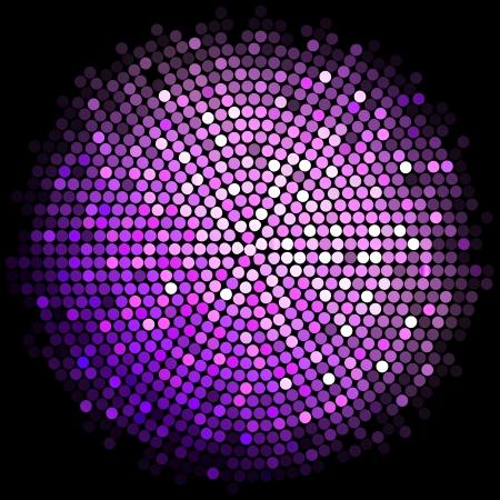 Vector purple disco lights background Vector