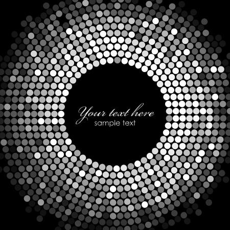 fiestas electronicas: Vector de plata de luces de discoteca marco