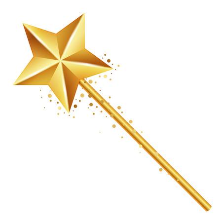Vector illustratie van gouden toverstaf