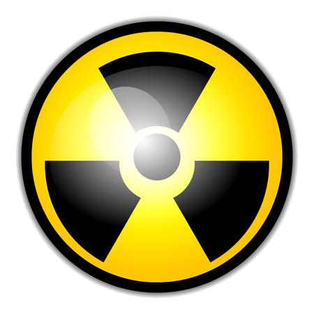 radium: Vector radiation warning symbol Illustration